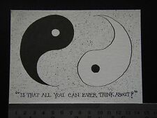 IS THAT ALL YOU CAN EVER THINK ABOUT? BERKIN POSTCARD No 5 POSTCARD