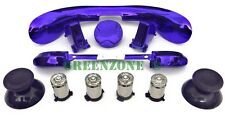 Custom Xbox 360 Controller Silver Bullet Buttons + BLUE Chrome Mod Kit