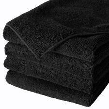 240 BLACK MICROFIBER TOWEL NEW CLEANING CLOTHS BULK 16X16 MANUFACTURERS SALE