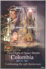 Liberia 2006 Space Shuttle Columbia 25th Anniv./Rocket/Transport 4v m/s n17157q