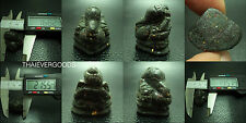 ฺBLACK STONE BURMA HINDU OM GANESHA MINI STATUE THAI AMULET LUCK SUCCESS