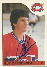 Signed Guy Charbonneau Montreal Canadiens 85-86 O-PEE-CHEE  Hockey Card #233