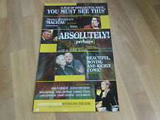 ABSOLUTELY  Perhaps  Intellectual Magic  WYNDHAMS  Theatre Original Poster