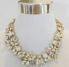 New J Crew Iridescent Crystal Cluster Statement Necklace NWT $128  Style F4890