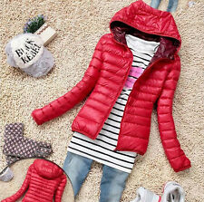 New Winter Women's Slim Hooded Coat zipper Trench Jacket Parka Outwear Overcoat