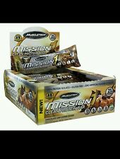 MuscleTech Mission1 Clean Protein bars - Box of 12 - BUY 10 CARTONS GET 2 FREE!