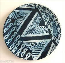 PRE-OWNED ANTICA FORNACE CERAMICHE DE TAVOLA BLUE ABSTRACT DESIGN PLATE, Italy
