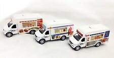 Set of 3 Tacos Ice Cream Fast Food Refreshment Truck 1:43 Scale Diecast Model