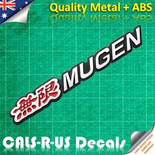 無限 MUGEN Power SOLID Metal & STRONG ABS Jap Badge Decal Sticker Car Drift Tuning