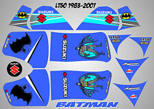 suzuki lt50 quad graphics stickers decals lt 50 laminated batman white lt 50
