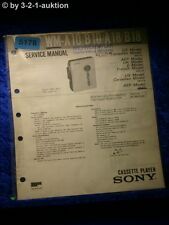 Sony Service Manual WM A10 /B10 /A18 /B18 Cassette Player (#5178)