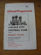 07/10/1967 Lincoln City v Newport County  . Item In very good condition unless p