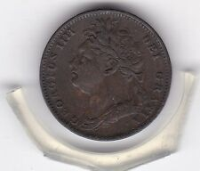 1821   King  George  IV  Farthing  (1/4d)  British  Coin