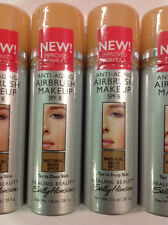 4 X Sally Hansen Anti-Aging Airbrush Makeup NATURAL BEIGE SPICE Tan To Deep Skin