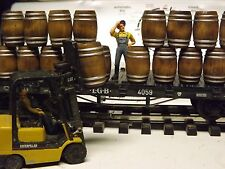 G SCALE WHISKEY BARRELS WINE BARRELS 1/24 SCALE SET 0F 10