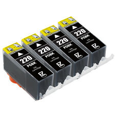 4PK PGI-220 220BK Black Ink Cartridges For Canon PIXMA MP640 PIXUS MP980 MP990