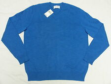 $69 NWT NEW Mens Lucky Brand White Label V-Neck Sweater Cobalt Blue Size S M320