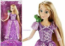 "PRINCESS RAPUNZEL & PASCAL 12"" CLASSIC DOLL ~DISNEY STORE~ TANGLED FREE USA SHIP"
