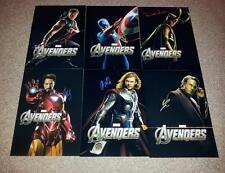 "THE AVENGERS ASSEMBLE SET OF 6 PP SIGNED 12""X8"" PHOTO POSTERS IRON MAN LOKI"