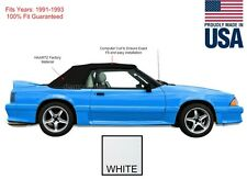 NEW Ford mustang Convertible Soft Top With Glass Window 1991-1993 WHITE Vinyl