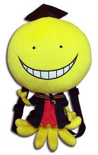 "Assassination Classroom Koro Sensei 12.5"" Plush Bag Backpack Official GE84761"
