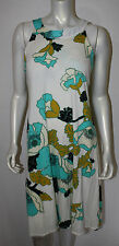 PAUL SMITH Ivory Turquoise Blue Black Floral Knit Halter Dress M Art Deco Blk Lb