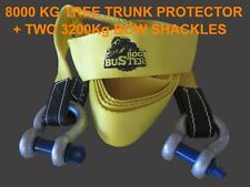 2 X 3.2 T BOW SHACKLES AND 8 TONNE TREE TRUNK PROTECTOR TOW STRAP RECOVERY 4X4