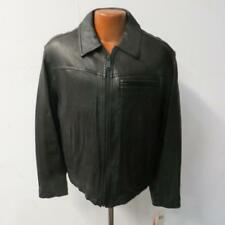 Levi's Mens Medium Full Zip Leather Jacket Black Retail $595 JT 73