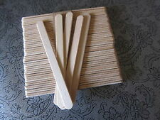 "50 FLAT WOODEN LOLLIPOP LOLLY ICECREAM STICKS 4.5"" -Food or craft use"