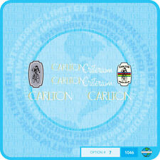 Carlton Criterium Bicycle Decals - Transfers - Stickers - Set 7