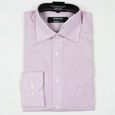 Eterna Pink/White Striped Shirt. Size: 15/38 - RRP: £55 NEW WITH TAGS