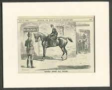 1892 Antique  Print of a Lady Horse Riding Side Saddle