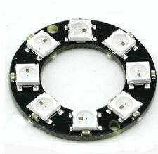 WS2812 8-Bit 5050 RGB LED Lamp Panel Round Ring LED Driver Development Board
