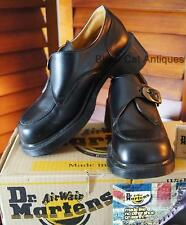 Orig Dr Martens Air Wair Black Leather Ladies Shoes Size 8 US -Made in England