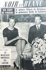 PRINCE ALBERT COUVERTURE de NOIR et BLANC No 737 de 1959 MARIAGE IMPERIAL JAPON