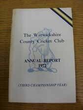 1972 Cricket: Warwickshire - Season Annual Report [3rd Championship Year] (Foxin