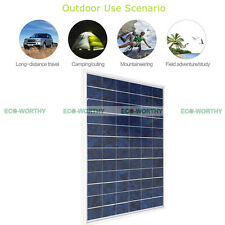 10W 12V Portable Solar Panel Sunpower Waterproof for Camping Tent Motorhome