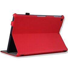 RooCASE iPad Leather Folio Case Cover with Stand and Smart Cover Function- Red