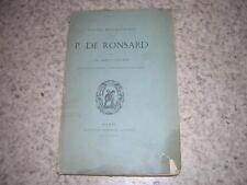 1893.notice biographique sur Ronsard / Marty-Laveaux
