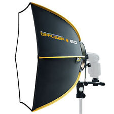 "SMDV Soft-box Hexagon Diffuser 60 23"" for Speed-light Speed-lite Quantum Flash"
