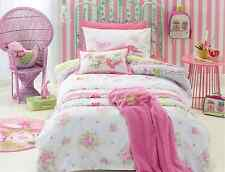 4 pce Double Bed Shabby Chic Quilt Cover Set & Bird Cushion $119 Jiggle Giggle