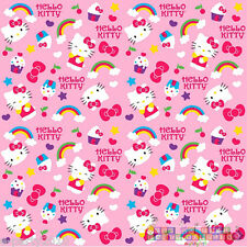 HELLO KITTY RAINBOW GIFT WRAP ROLL ~ Birthday Party Supplies Decorations Paper