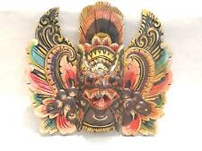 Wooden Garuda Mask Hand Carved Wood Bali Wall Decor Art #976