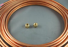 "1/4"" x 5 M SOFT COPPER PIPE COIL & 2 1/4"" FLARE NUTS  WATER  AIR CONDITIONER USE"