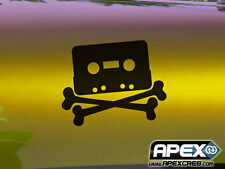 Cassette Pirata-software la piratería Gracioso Pegatina De Vinilo-Negro