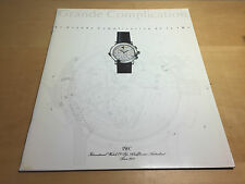 Booklet IWC Schaffhausen - Grande Complication - El Grande Complication de IWC