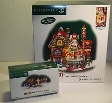 "DEPT 56  NORTH POLE "" M&M's CANDY FACTORY "" #56733 ANIMATED / BONUS BRAND NEW!!"