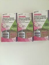 Nutra Nail Bullet-Proof Strength Formula #12668 with Top Coat - ~lot of 3~