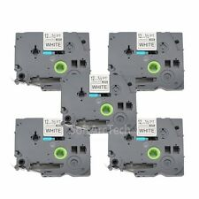 5pk Black on White Label Tape Compatible for Brother PTouch TZ TZe S231 12mm