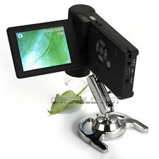 """UM039 500X Portable 3"""" LCD Digital Microscope 5.0MP 8 LED Rechargeable Battery"""